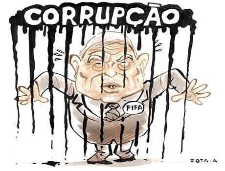 Charge: A corrupção entrou em campo e está dando uma goleada na Fifa