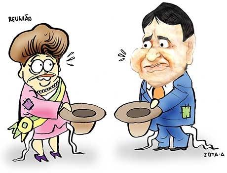 Charge: Buscando ajuda, Governador é surpreendido com pedido de Dilma