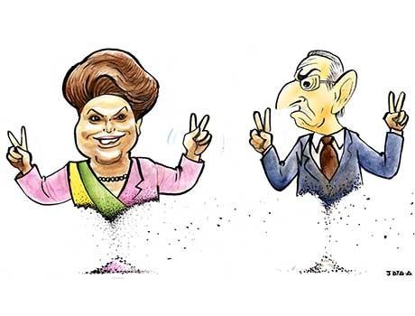 Charge: Governo de Dilma e mandado de Cunha podem estar próximo do fim