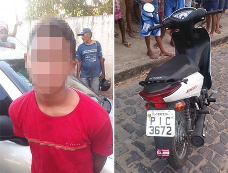Após roubar motocicleta, adolescente é apreendido com revólver